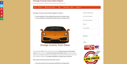 orange county auto glass repair centers