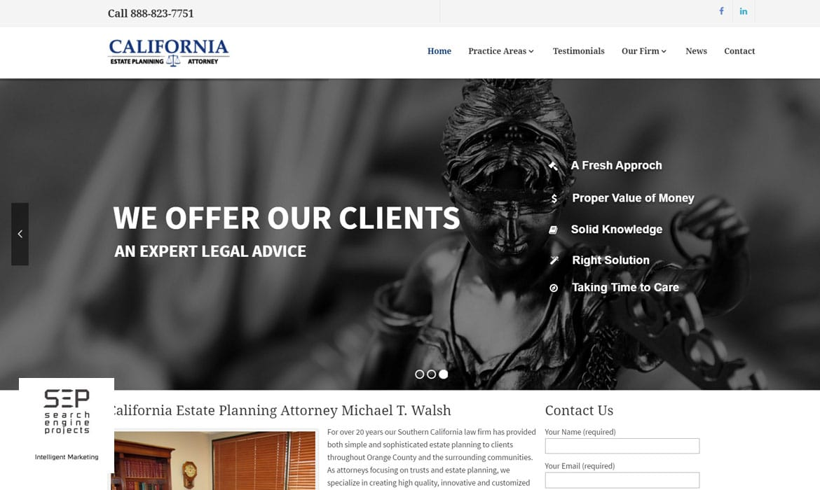 attorney website after