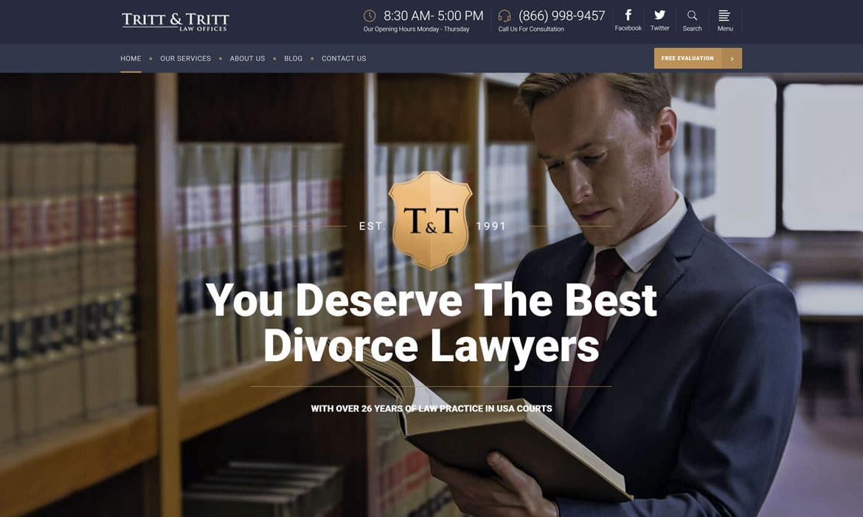 attorney website design after