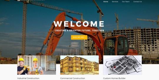 contractor marketing construction website