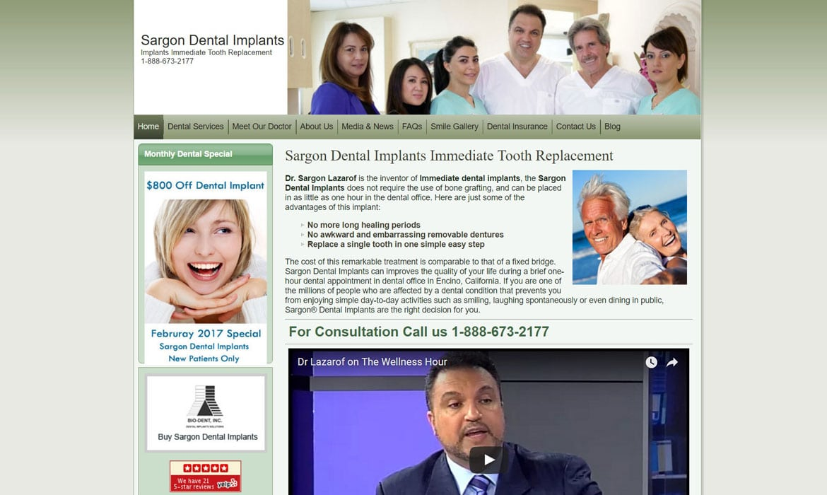 dental marketing website design