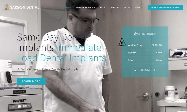 Dental Marketing Dentist Website Design