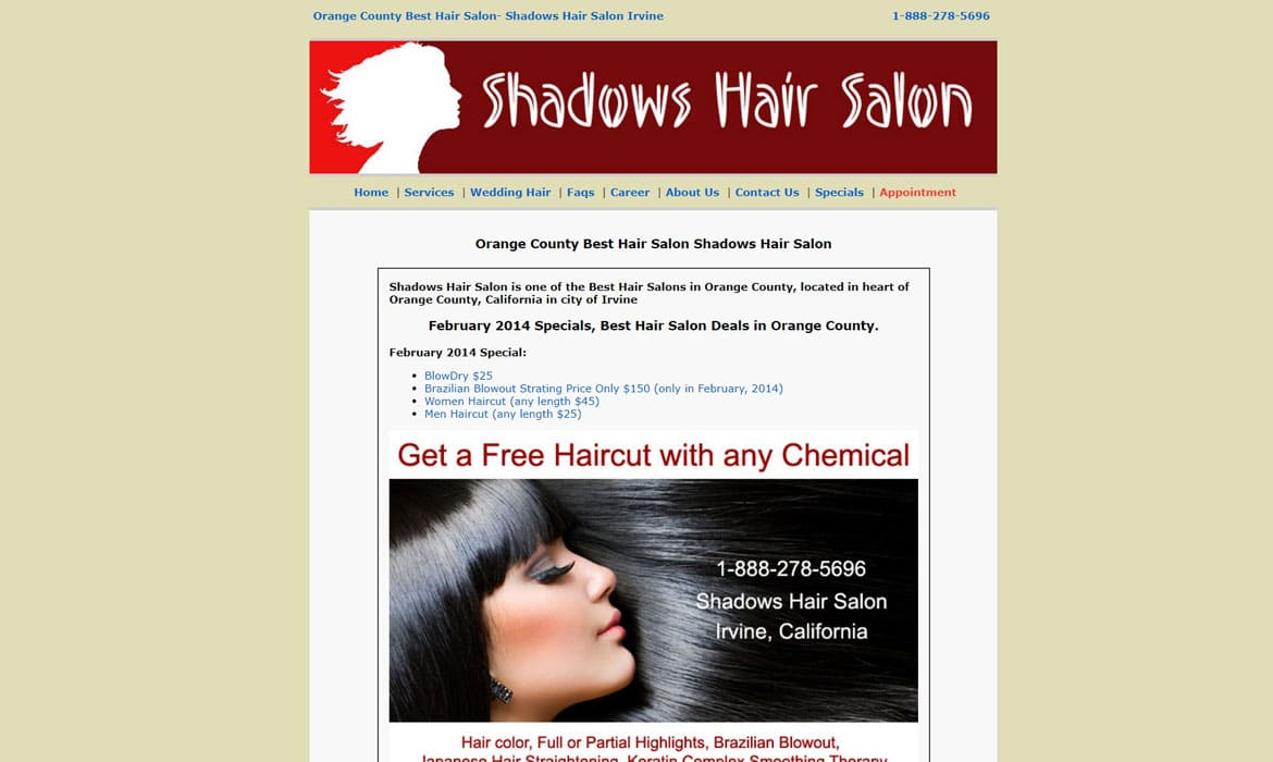 hair salon marketing shadows hair salon