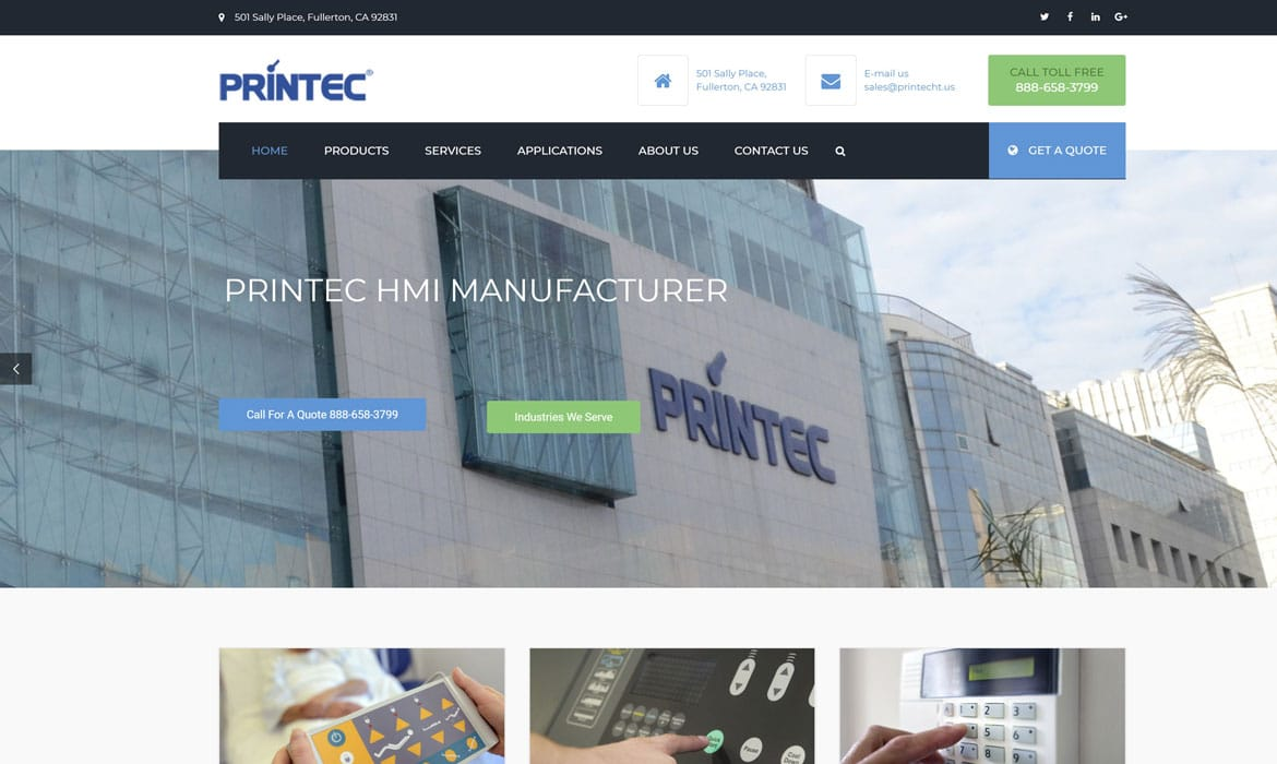 b2b marketing agency hmi manufacturer printec search engine projects