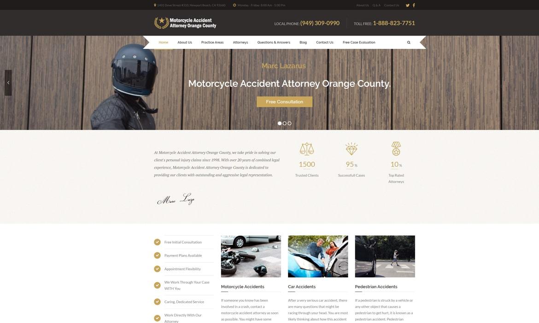 personal injury attorney website design