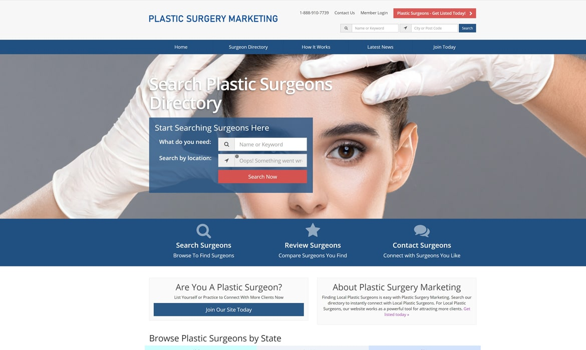 plastic surgery marketing directory