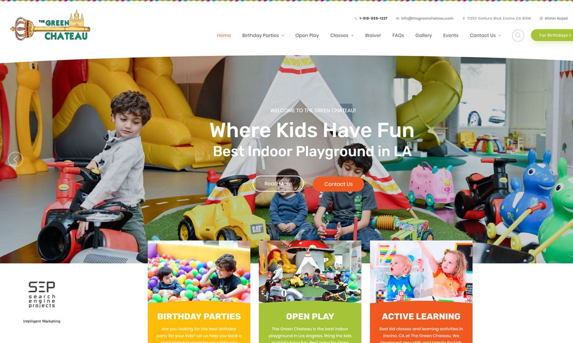 indoor playgrounds website