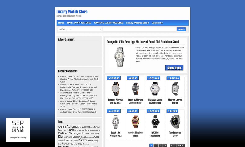luxury watch store marketing